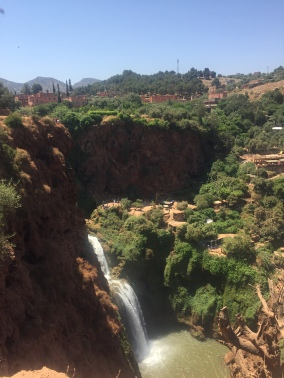 The King of Morocco is building a palace with a view of the falls.